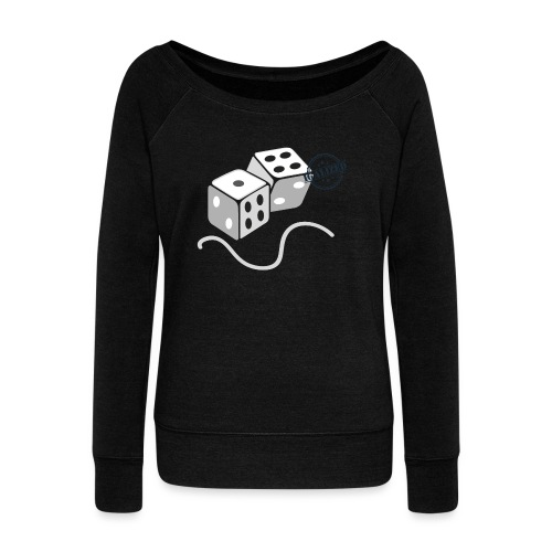 Dice - Symbols of Happiness - Women's Boat Neck Long Sleeve Top