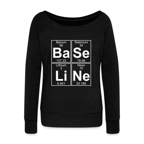 Ba-Se-Li-Ne (baseline) - Full - Women's Boat Neck Long Sleeve Top