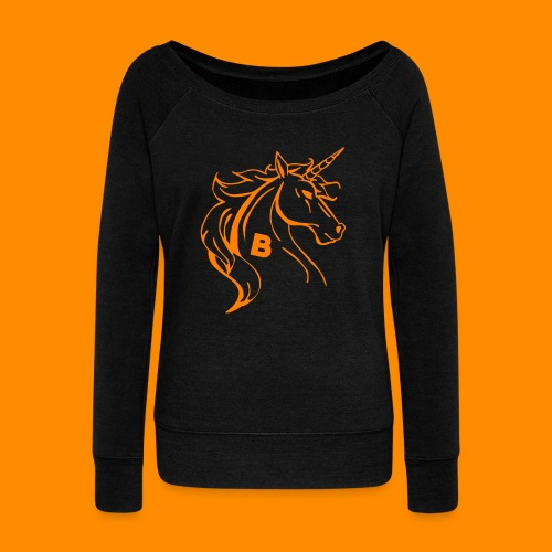 orange biodusty unicorn shirt - Vrouwen trui met U-hals van Bella