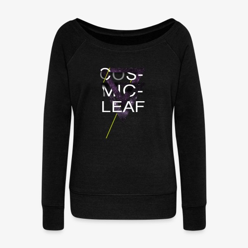 Cosmicleaf Triangles - Women's Boat Neck Long Sleeve Top