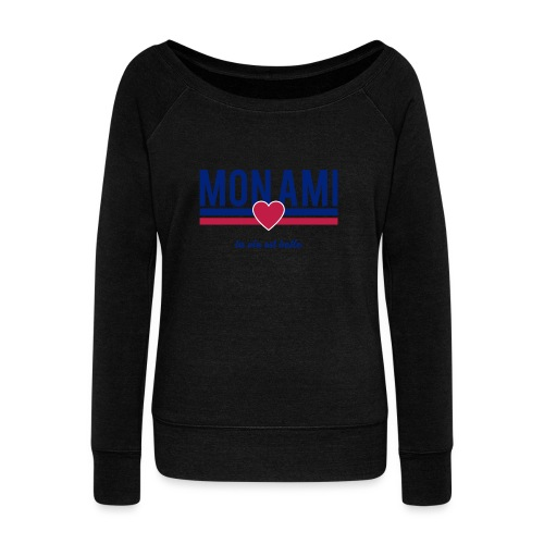 Mon Ami - Women's Boat Neck Long Sleeve Top