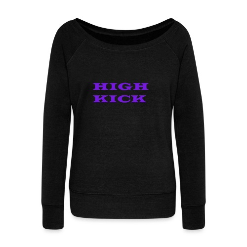 HIGH KICK HOODIE [LIMITED EDITION] - Women's Boat Neck Long Sleeve Top