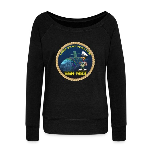 Command Badge SSN-1983 - Women's Boat Neck Long Sleeve Top
