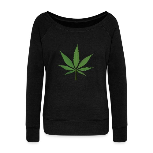 Weed - Women's Boat Neck Long Sleeve Top
