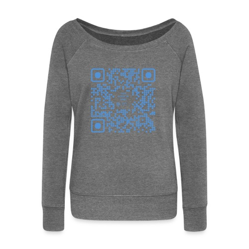QR The New Internet Shouldn t Be Blockchain Based - Women's Boat Neck Long Sleeve Top