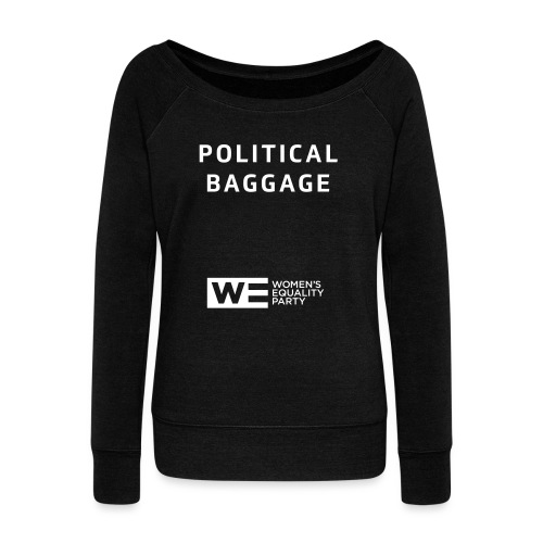 Political Baggage - Women's Boat Neck Long Sleeve Top