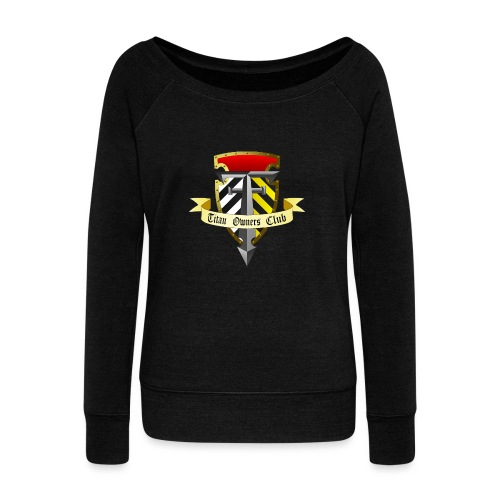 TOC Gothic Clear Background 1 - Women's Boat Neck Long Sleeve Top