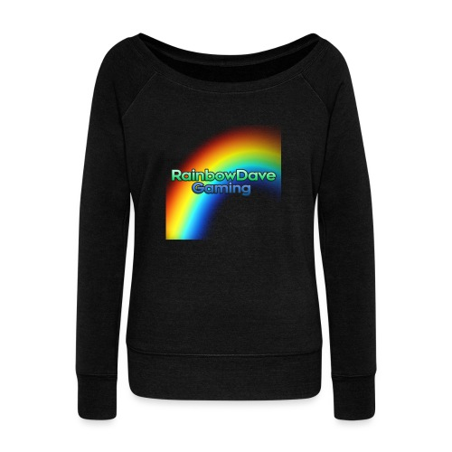 RainbowDave Gaming Logo - Women's Boat Neck Long Sleeve Top