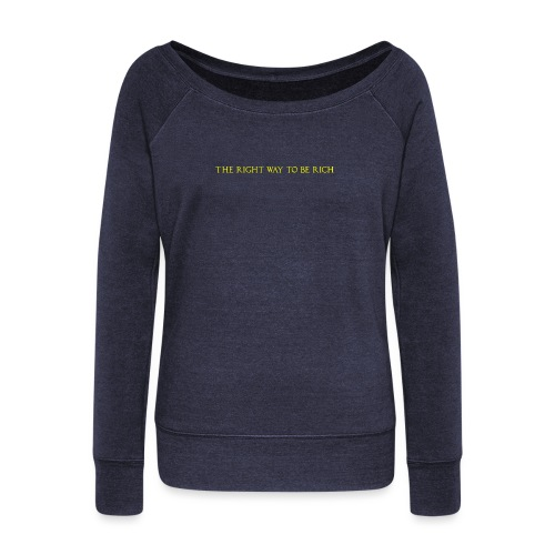 The right way to be rich - Pull Femme col bateau de Bella