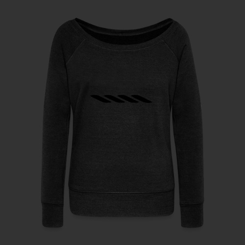 Rope With Bite Logo - Women's Boat Neck Long Sleeve Top