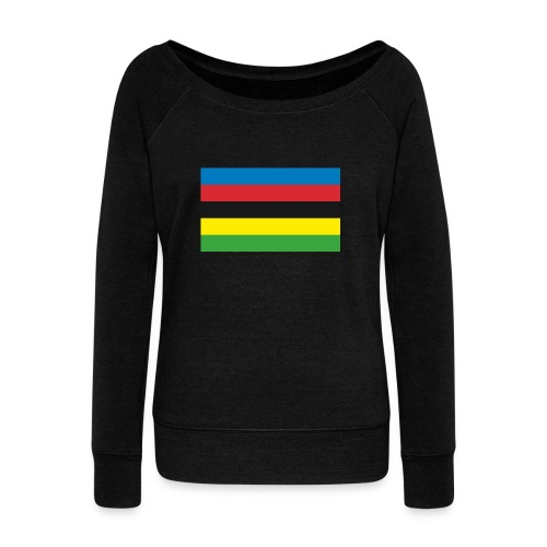 Cycling_World_Champion_Rainbow_Stripes-png - Vrouwen trui met U-hals van Bella