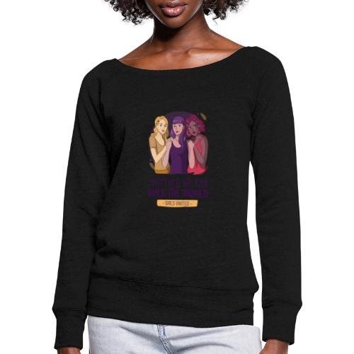 t shirt design generator featuring three women - Sudadera con escote drapeado mujer