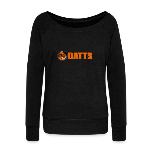 dattr logo - Women's Boat Neck Long Sleeve Top
