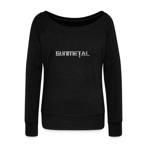 Gunmetal - Women's Boat Neck Long Sleeve Top