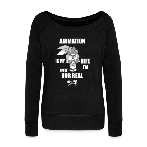 AMB Animation - In It For REAL - Women's Boat Neck Long Sleeve Top