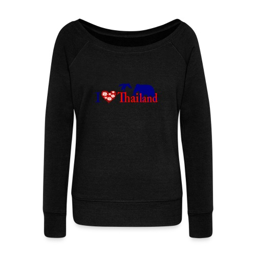I love Thailand - Women's Boat Neck Long Sleeve Top