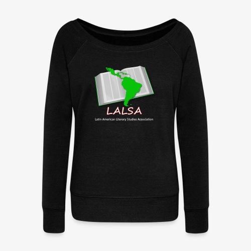 LALSA Light Lettering - Women's Boat Neck Long Sleeve Top
