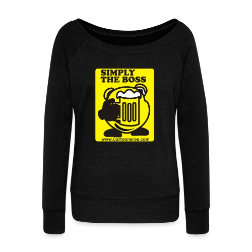 Simply the Boss - Women's Boat Neck Long Sleeve Top