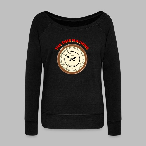 Time Machine - Women's Boat Neck Long Sleeve Top