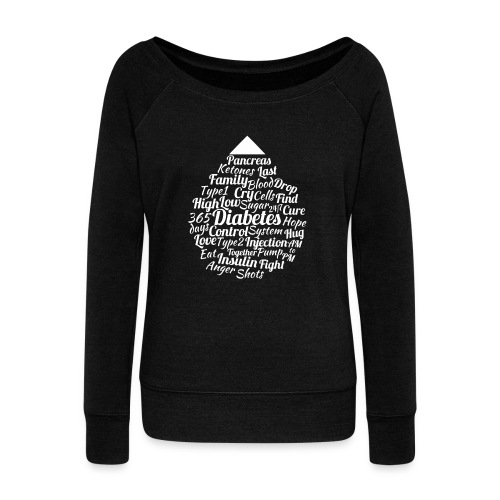 CURE DIABETES - Women's Boat Neck Long Sleeve Top