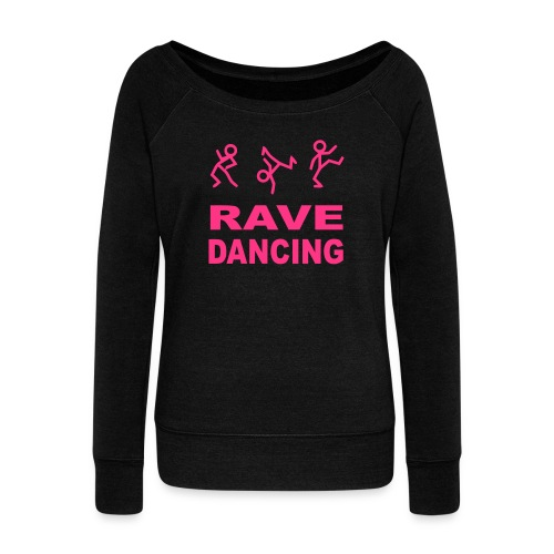 Rave Dancing - Women's Boat Neck Long Sleeve Top