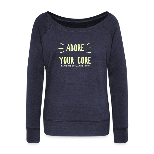 Adore Your Core - Women's Boat Neck Long Sleeve Top