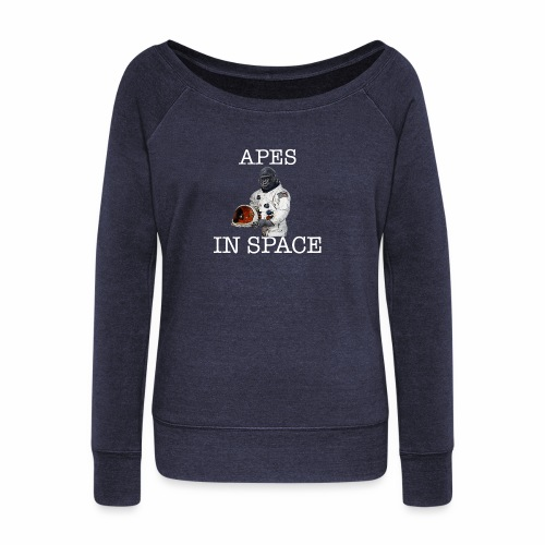 Apes in Space - Women's Boat Neck Long Sleeve Top