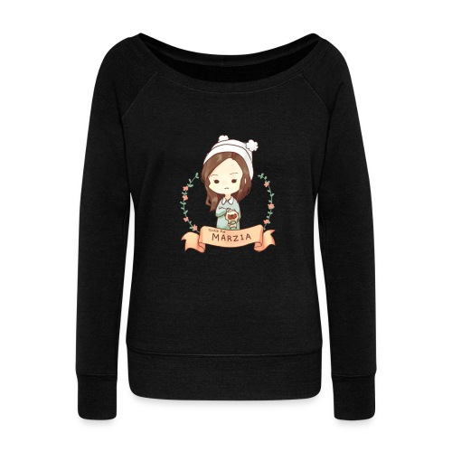 cutiepie 2 - Women's Boat Neck Long Sleeve Top