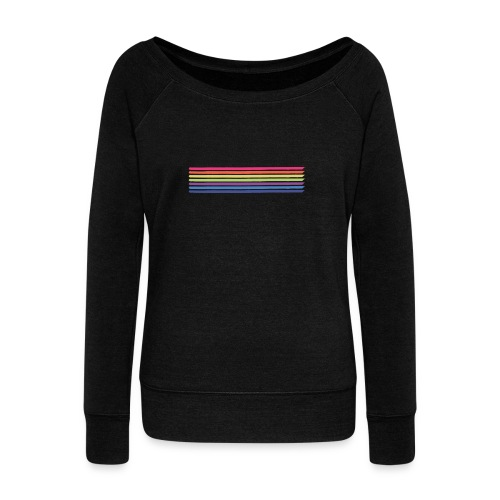 Colored lines - Women's Boat Neck Long Sleeve Top