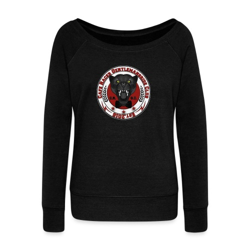 logopanthercrfcnew - Women's Boat Neck Long Sleeve Top