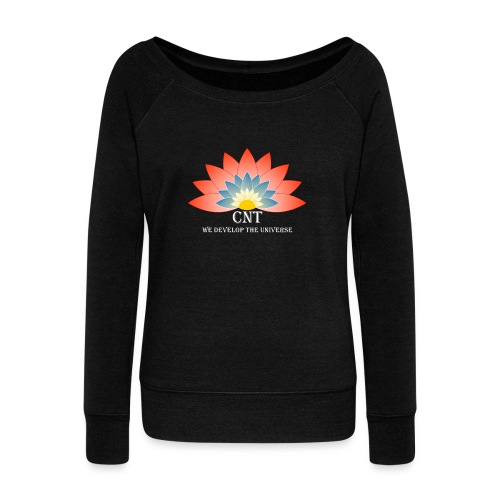 Support Renewable Energy with CNT to live green! - Women's Boat Neck Long Sleeve Top