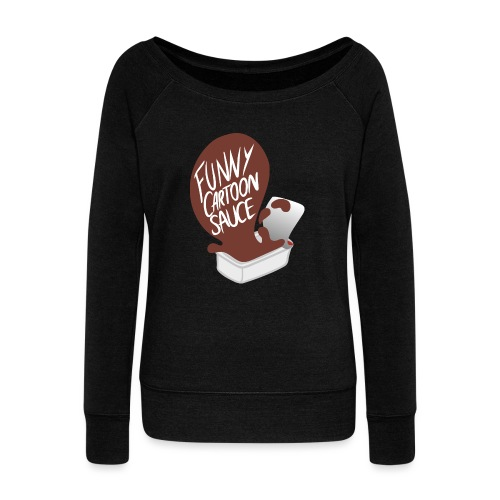 FUNNY CARTOON SAUCE - FEMALE - Women's Boat Neck Long Sleeve Top