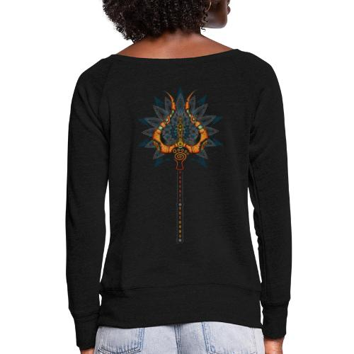 Parvati Records Trishula - Women's Boat Neck Long Sleeve Top