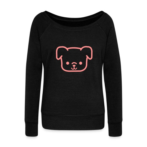 CutiePie Dog - Women's Boat Neck Long Sleeve Top