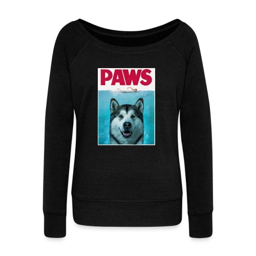 paws 2 - Women's Boat Neck Long Sleeve Top