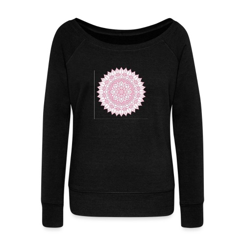 Mandala - Women's Boat Neck Long Sleeve Top