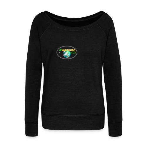 awesome earth - Women's Boat Neck Long Sleeve Top