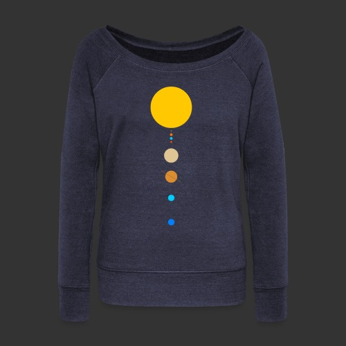 Solar System - Women's Boat Neck Long Sleeve Top