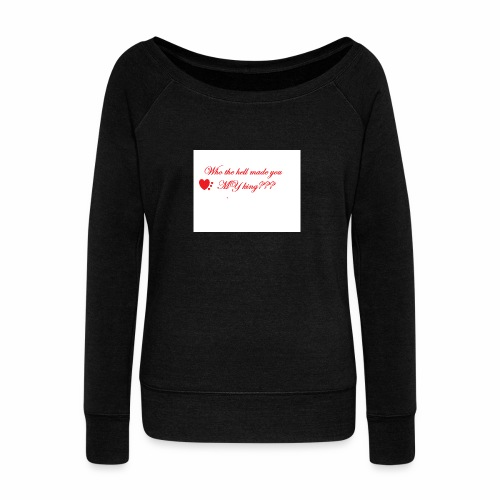 LoveYourselfTheMost - Women's Boat Neck Long Sleeve Top