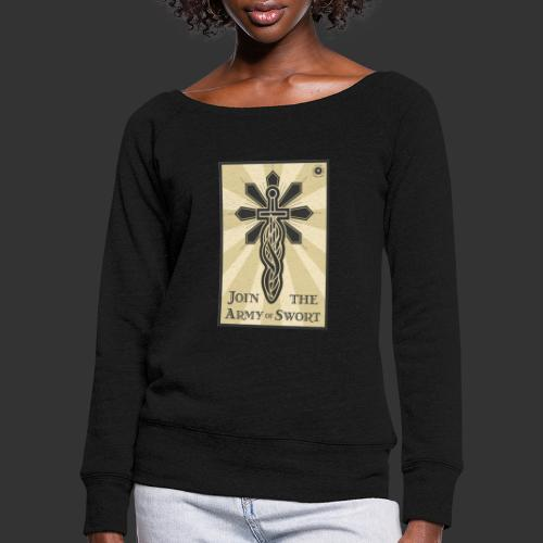 Join the army jpg - Women's Boat Neck Long Sleeve Top