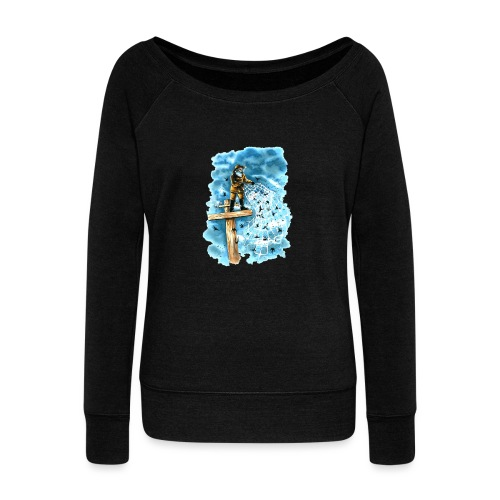 after the storm - Women's Boat Neck Long Sleeve Top