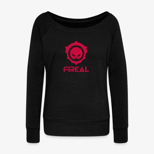 Fireal Imperial Design tote bag - Women's Boat Neck Long Sleeve Top