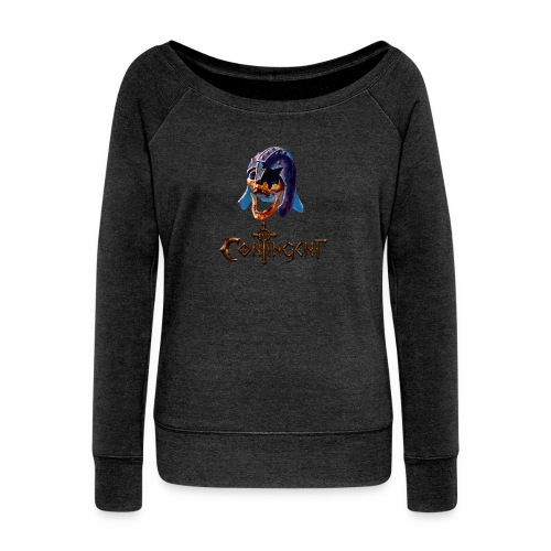 Contignent Logo - Women's Boat Neck Long Sleeve Top