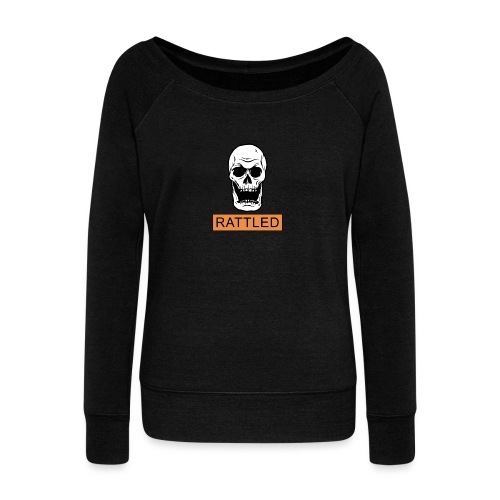 Rattled Spooky Halloween Skeleton Meme - Women's Boat Neck Long Sleeve Top