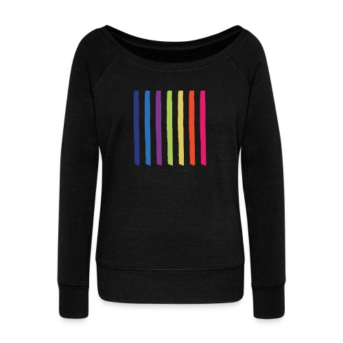 Lines - Women's Boat Neck Long Sleeve Top