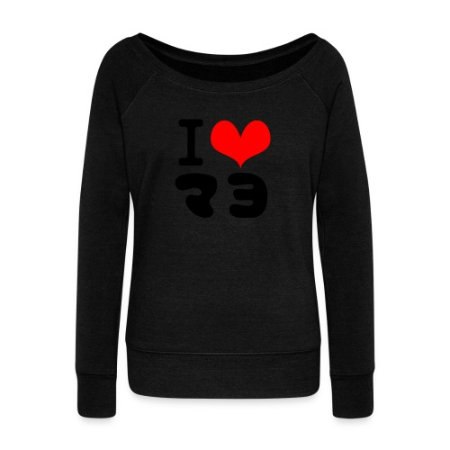 I Love MAYO(J) - Women's Boat Neck Long Sleeve Top