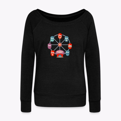 Ferris Wheel - Women's Boat Neck Long Sleeve Top