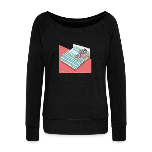 pajama party - Women's Boat Neck Long Sleeve Top