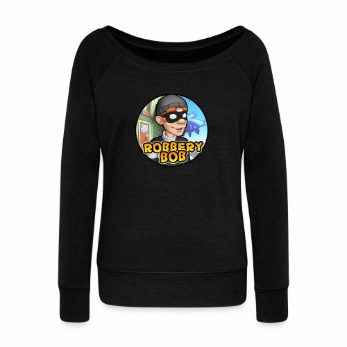 Robbery Bob Button - Women's Boat Neck Long Sleeve Top