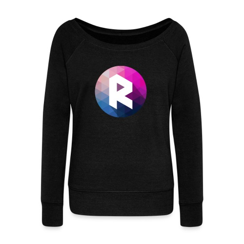 radiant logo - Women's Boat Neck Long Sleeve Top